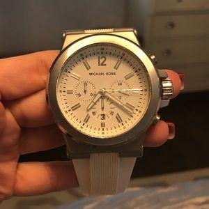 Men's White Michael Kors Watch